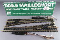 Jouef 4187 Ho 2 Grands Aiguillages Electrique à Gauche Rails Maillechort 14° R 671 Neuf boite