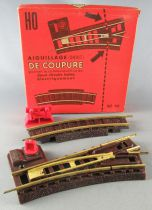 Jouef 442 Ho Aiguillage Droit Coupure 1/2 Courbe Butoir Rails Laiton Voie Ballast Neuf Boite