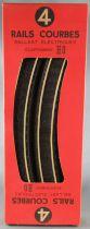 Jouef 460 Ho 4 Curved Tracks  R=325mm Brass Rails Ballast Track Mint in Box