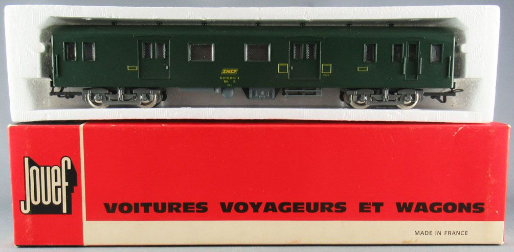 Jouef 4695 Ho Sncf Uic Luggage Van Dd4s Green Livery Red box 1