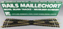 Jouef 4847 Ho Grand Croisement Rails Maillechort 14° 245 mm Neuf boite