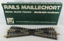 Jouef 4849 Ho Croisement 22°30 Rails Maillechort Neuf Boite