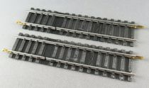 Jouef 4851 Ho 2 x Steel Straight Supply Tracks 1 cut 123,5 mm Mint Condition