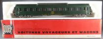 Jouef 5293 Ho Sncf Uic Coach B9c9x Sleeping car 2nd Class Green Livery in box