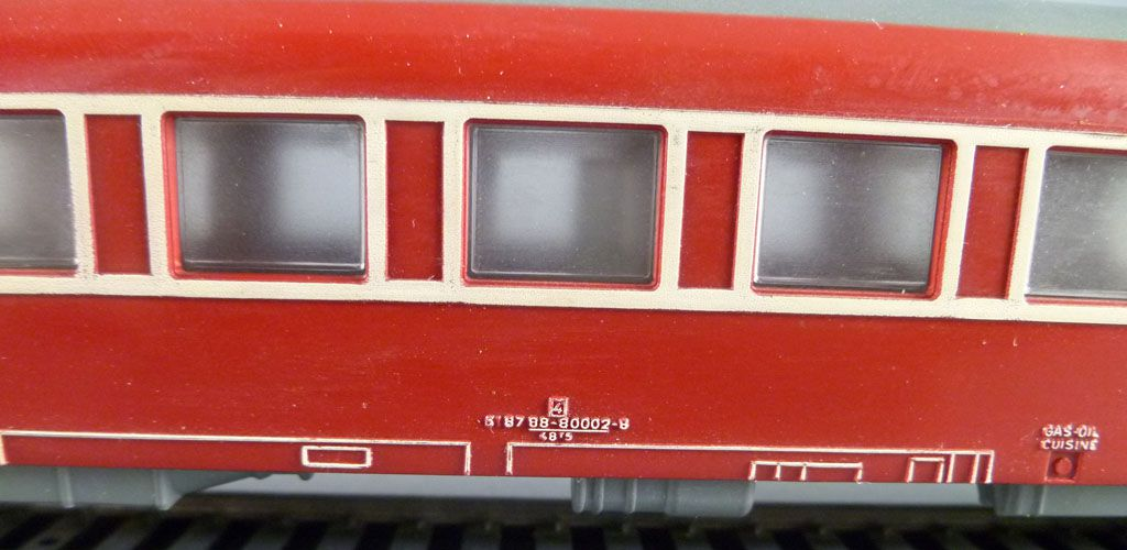 Jouef 5490 Ho Sncf Dev Type Restaurant Coach Red Livery