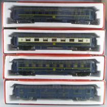 Jouef 5600 5610 5620 5630 Ho Ciwl Complete Set 4 Coach Mint in Red Sealed Box