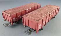 Jouef 6230 Ho Sncf 2 x Wagon Tombereau Uic To 709557 Chargement Minerai