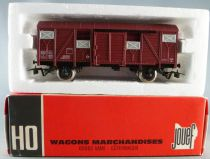 Jouef 6240 Ho Sncf Covered Wagon Type Europe K 337557 Red Box