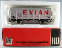 Jouef 6263 Ho Sncf Evian Metalic Covered Wagon with Red Box