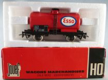 Jouef 6305 Ho Sncf Wagon Citerne Esso 2 Essieux Boite Rouge