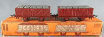 Jouef 632b Ho Sncf 2 x Gondola Wagons 2 Axles with Fuel Drums Boxed