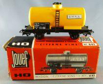 Jouef 641 Ho Sncf Tank Wagon 2 Axles Vine S.W.R.N. SCw 574521 Near Mint in Box