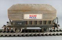 Jouef 6435 Ho Sncf Wagon Transport Bauxite 2 Essieux Rhone Progil Patiné