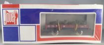 Jouef 6451 Ho Sncf Flat Wagon with Militarian Jeeps Mint in Sealed Box