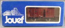 Jouef 6480 Ho Sncf Fourgon P.V. 2 Essieux Feux Rouge Arrières Eclairés Boite Bleue