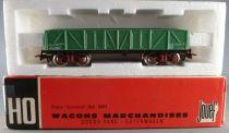 Jouef 6500 Ho Sncf Wagon Tombereau à Bogies Livrée Vert Type Tyw 799480 Boite Rouge