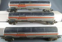 Jouef 6511 Ho Sncf 3 x Tank Wagons with bogies Cie Butagaz Painted Patina