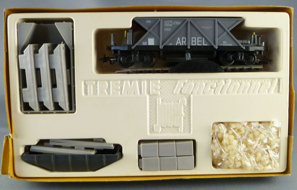 Jouef 659 Ho Sncf Functional Hopper with Arbel Hopper Wagon Mint in Box