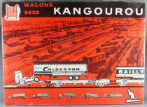 Jouef 664 Ho Sncf Kangaroo Set 2 Wagons & Calberson +  Bailly Truck Trailer Mint in Box