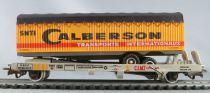 Jouef 665 Ho Sncf Wagon Plat à Poche Kangourou Remorque Routière Calberson