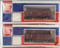 Jouef 6816 Ho Db 2 x Gondola Wagon 2 Axles Om 1924 Mint in Sealed Box