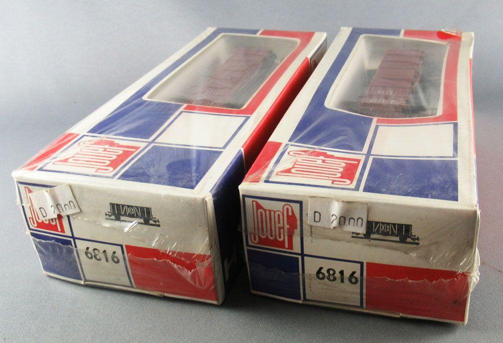 Jouef 6816 Ho Db 2 x Wagon Tombereau 2 Essieux Om 1924 Neuf Boite Tricolore Cellophanée