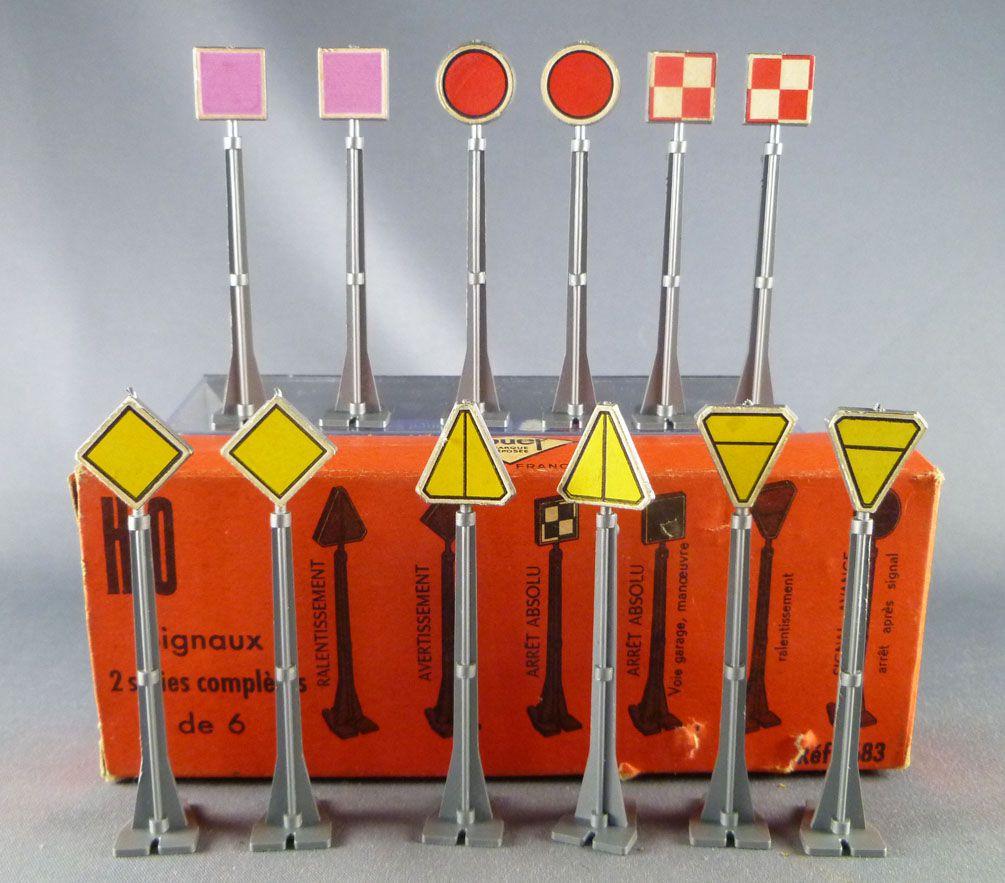 Jouef 683 Ho Sncf 12 Signaux Indicateurs Panneaux Signalisation de Voie Parfait Etat Boite