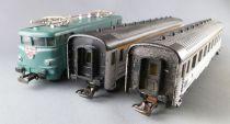Jouef 751 Ho Sncf Coffret Sud Express BB 9201 2 Voitures DEV Inox 8 Rails