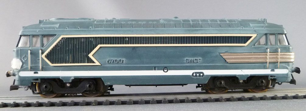 Jouef 753 Ho Sncf Alpenrose Set BB 67001 1 Dining & 1 Pullman coach 8 Curved Tracks