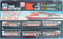 Jouef 7889 Ho Sncf Coffret Tgv Sud-Est 6 Éléments Rails Maillechort Transfo Poste Lavage