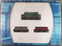 Jouef 809 Ho Sncf Diesel Triage Set Loco YY51130 2 Wagons 8 Curved Tracks Mint in Box