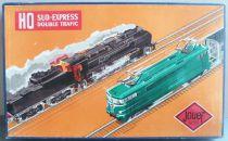 Jouef 828 Ho Sncf Mint Boxed Sud Express Double Traffic BB 9201 Locotender 0-4-0 020T 2 Dev Coach 2 Wagons Transfo 24 Tracks