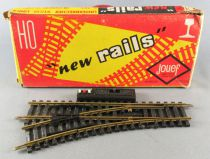 Jouef 847 Ho 1 Electric Control Point turn left with Cut R 325 Brass Tracks Mint in Box