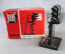 Jouef 9311 Ho 1 Signal de Voie Cablé 3 Feux 2 Lampes Boite Rouge