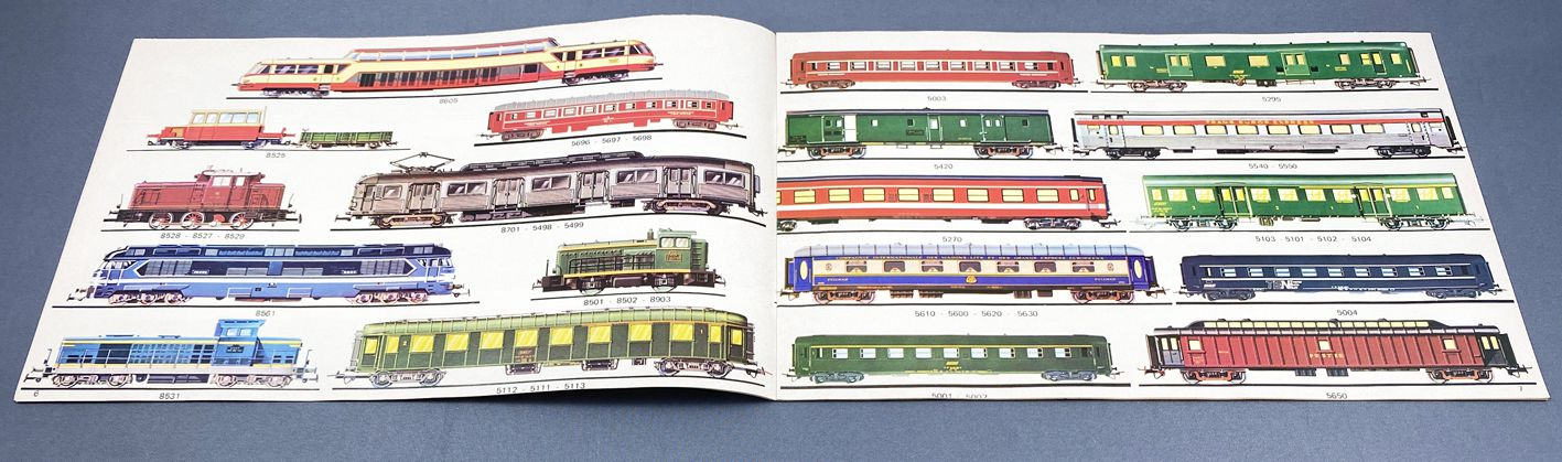 Jouef Catalogue Steam Electric Diesel Locos Wagons Coaches Slot Car Mint condition