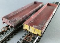 Jouef Ho Sncf 2 Wagons Plat à Bords Bas à Bogies Patinés