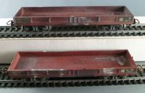 Jouef Ho Sncf 2 x Painted Flat Wagons with bogies