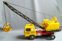 "Joustra Ref 668 - Mercedes Grab Crane Truck Tin Remote Control 21\"""