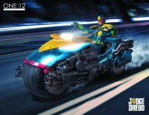 Judge Dredd & Lawmaster ( PX Previews Exclusive) - MezcoToyz - Figurine & Véhicule 1:12ème