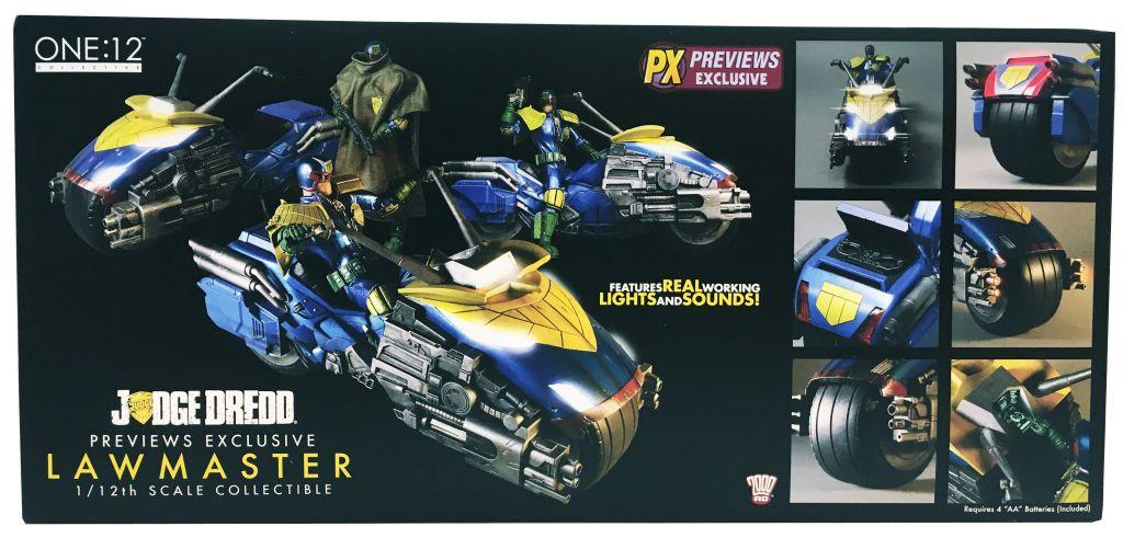 Judge Dredd & Lawmaster (PX Previews Exclusive) - MezcoToyz - Figurine & Véhicule 1:12ème