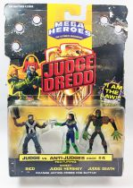 Judge Dredd - Mega Heroes par Mattel (Judge vs Anti-Judges Pack #4) - Rico, Street Judge Hershey & Judge Death