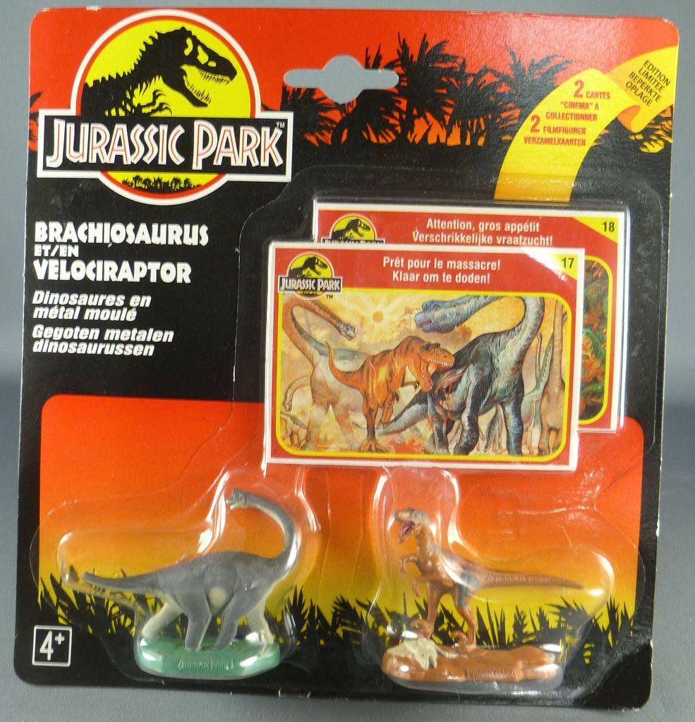 jurassic_park___kenner___figurine_metal___brachiosaurus___velociraptor_neuf_blister_1