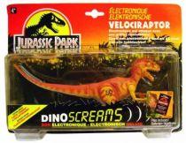 "Jurassic Park - Kenner - Velociraptor \""Dino Screams\"" (mint on card)"