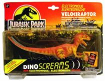 "Jurassic Park - Kenner - Velociraptor ""Dino Screams\"" (mint on card)"