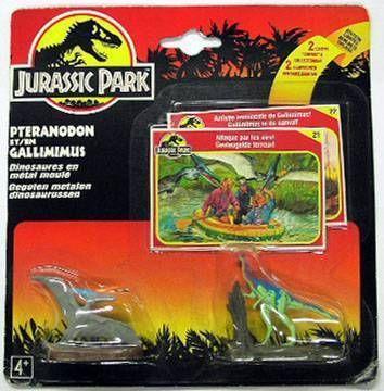 Jurassic Park - Pteranodon & Gallimimus - Metal - Kenner