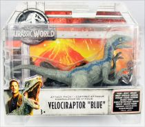 "Jurassic World - Mattel - Attack Pack Velociraptor ""Blue\"""