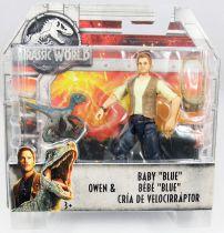 """Jurassic World - Mattel - Owen & Baby \""""Blue\"""""""