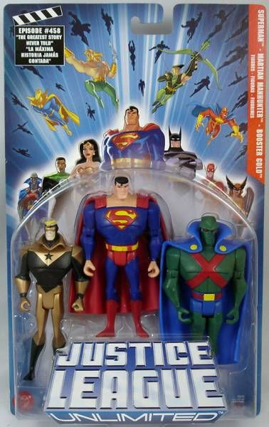 Justice League Unlimited - Booster Gold, Superman, Martian Manhunter