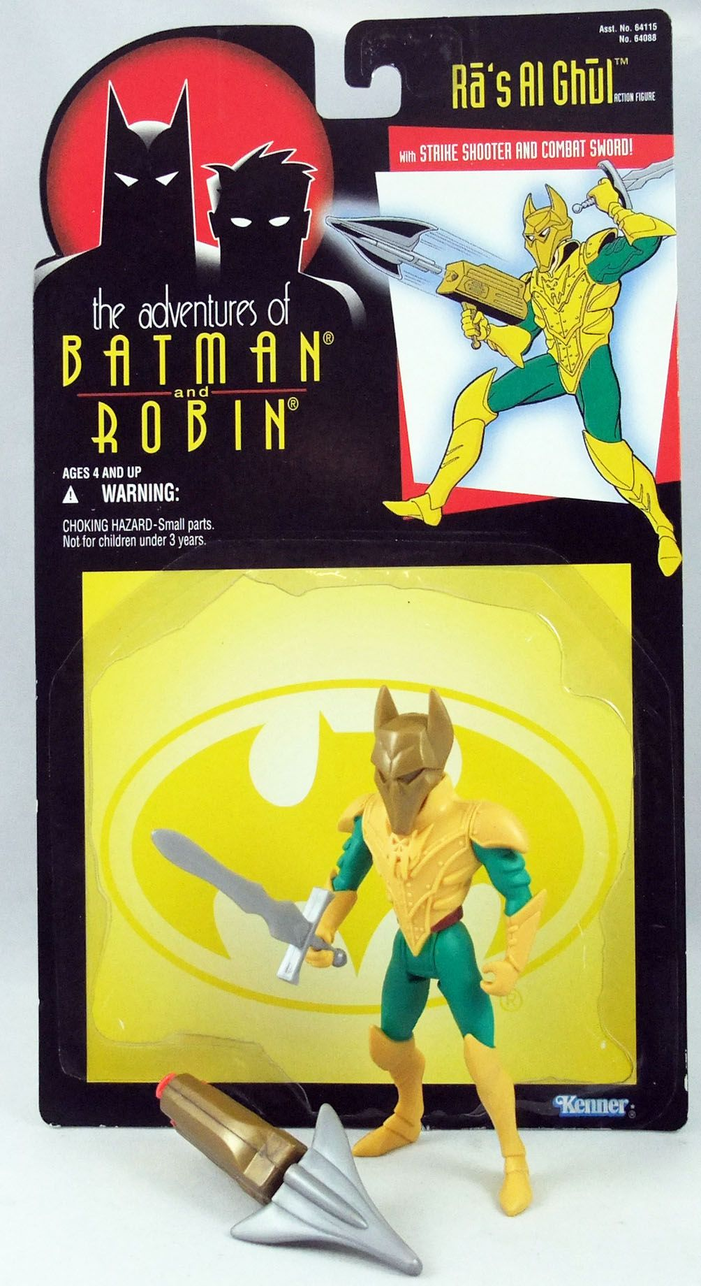 Kenner - Batman The Animated Series - Ra\'s Al Ghul (loose with cardback)