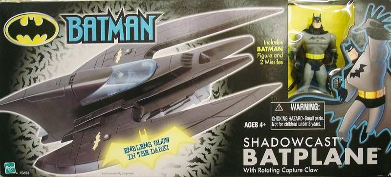 Kenner Hasbro - Batman The Animated Series - Shadowcast Batplane with Batman